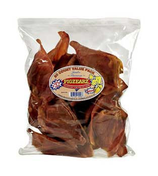 Pet Center Natural Pig Ears 20 Ct Pack-104865
