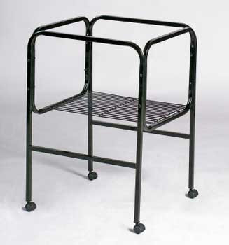 Prevue Pet Products Pre-packed Cage Stand White And Black 16x14/16x16 2pc {bin-B}