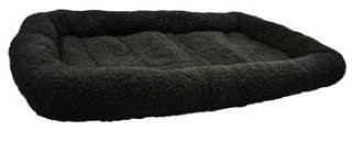 "Dreamzone Fleece Bed Black 30x22"" {bin-1}"