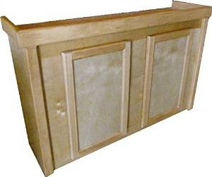 R&j Aquatics Honey Birch 30in Tall Cabinet 48x18 {bin-B} SD-3 Free In Store Pick Up - NO SHIPPING