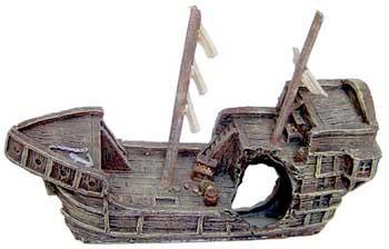 Resin Ornament - Sunken Gondola {bin-1}
