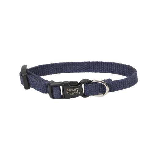 Coastal New Earth Soy Adjustable Collar Indigo 3/8inx6in-8in