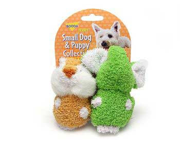 Aspen Pet Booda Puppy & Small Dog Two Pack Terry Elephant/chipmunk {bin-2}