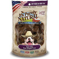Loving Pet Beef Jerky Bone-Shaped Treats 4oz