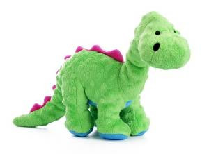 Godog Dinos Bruto Green Large With Chew Guard Technology Tough Plush Dog Toy