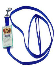 Petmate 5/8x6' Basic Nylon Leash Blue