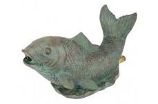 Eug Pond Statue Spouting Fish