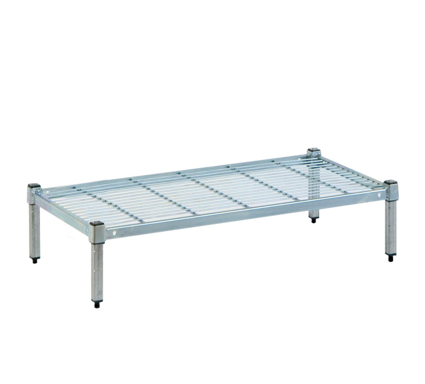 Single tier STAINLESS Post Wire Shelves 75 cm (L) x 45 cm (W ...