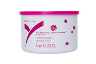 With its delicious strawberry scent and spectacular, sparkling Micro Mica, SoBerry Delicious strip wax removes hair quickly and gently, with no skin drag.