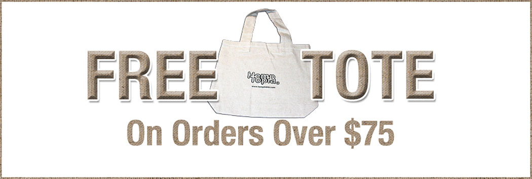 Free Tote Bag on orders over $75