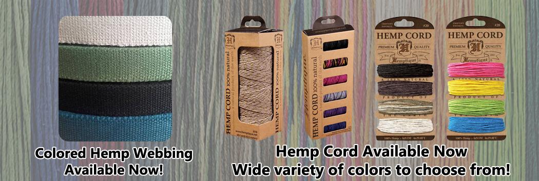 Hemp Webbing Now Available