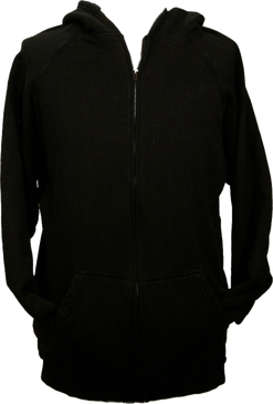 Hemptopia Hemp Zip Up Hoody - Black