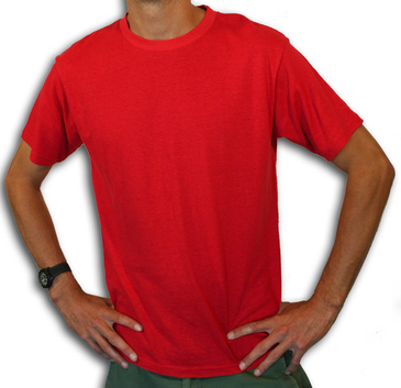 Hemptopia Red Tees - 55% Hemp / 45% Certified Organic Cotton