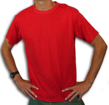 Hemptopia Red Tees - 55% Hemp / 45% Certified Organic Cotton
