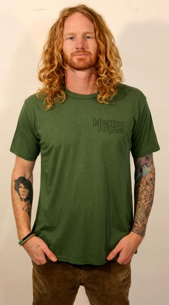 Hemptopia Pocket Logo Hemp T-Shirt - Green