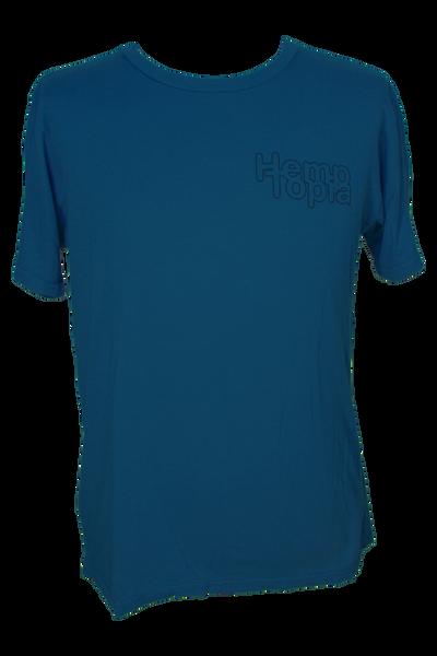 Hemptopia Pocket Logo Hemp T-Shirt - Blue
