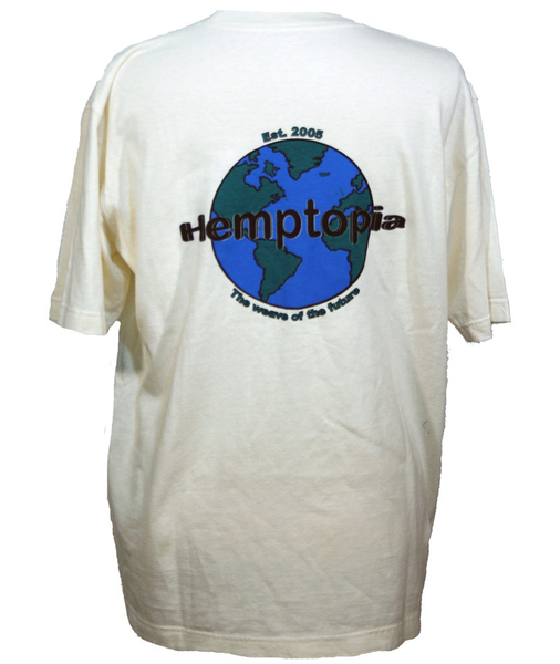 Hemptopia Logo - Heavy T-shirt - Back