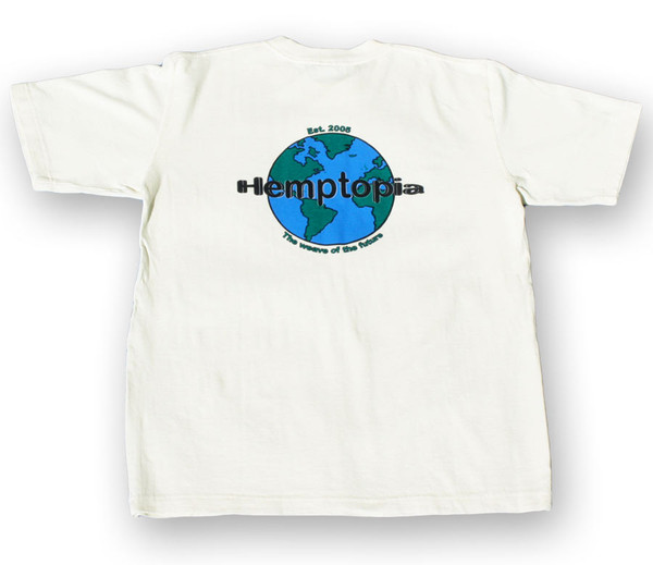 Hemptopia Logo - Heavy T-shirt - Front Logo