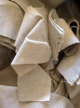 Scrap Hemp Fabric - 100% recycled material scrap fabric