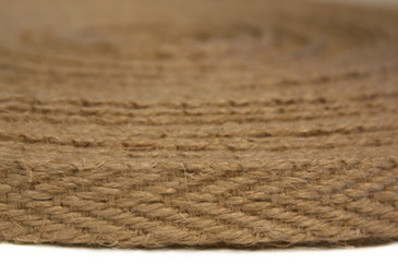 "5/8"" Romanian hemp webbing 25 meter spool - side view"