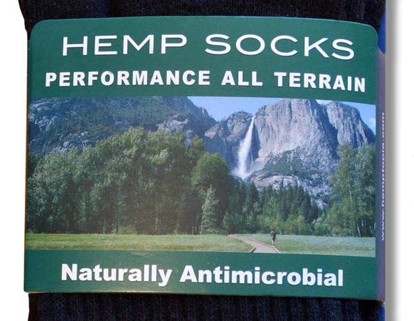 Hemp sock front closeup view