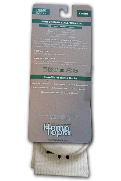 Hemptopia Hemp Socks Natural back view
