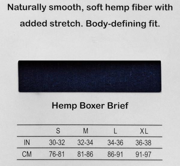 men's hemp boxer brief back details