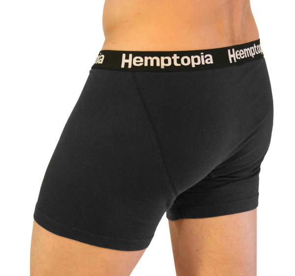 Side angle of men's hemp boxer brief
