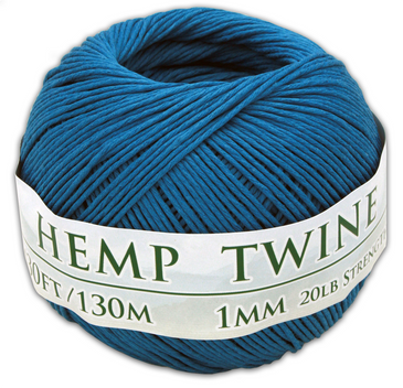 blue hemp twine ball 1mm