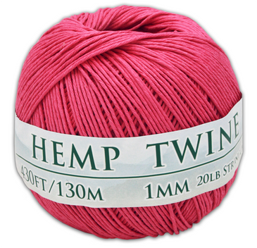 pink hemp twine ball 1mm