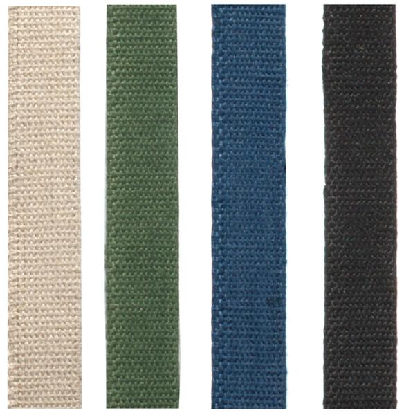 Colored hemp webbing