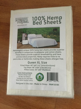 100% Hemp Bed Sheets - Queen Size