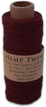 Bourbon Red Hemp Twine Spool