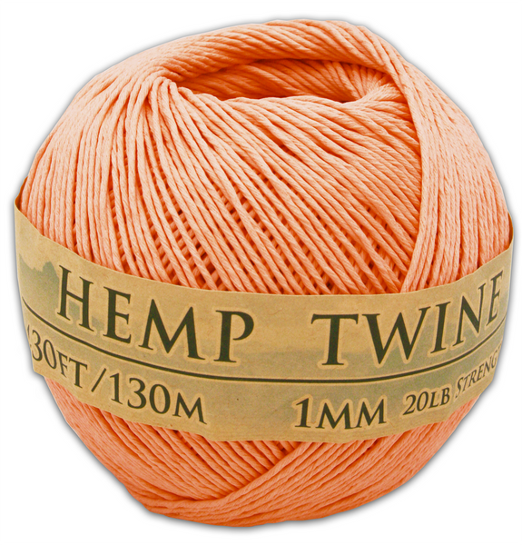 Tropical Coral Hemp Twine Ball