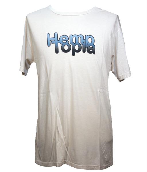 Hemptopia Hemp T-shirt - Gradient Logo - White