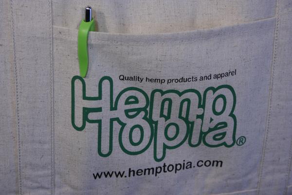 Reusable Hemp Bag - The Grocer w/logo close up