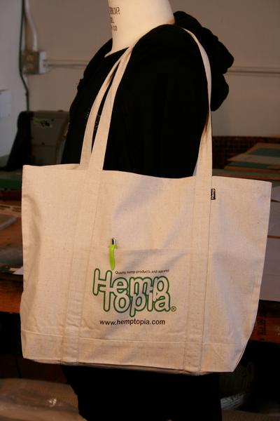 Reusable Hemp Bag - The Grocer w/logo