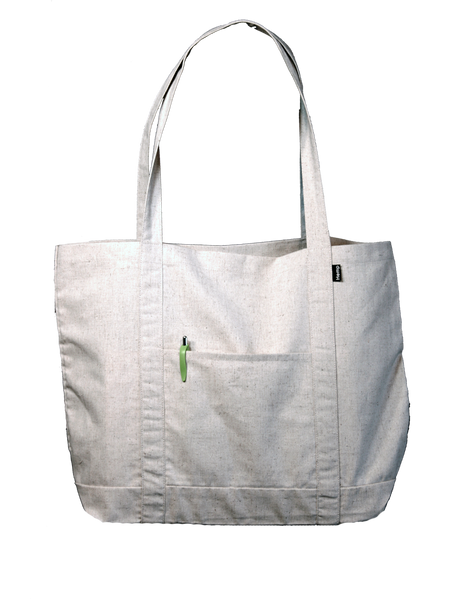 Hemp Tote Bag - The Grocer - Side Pocket