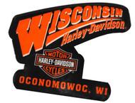 Harley-Davidson® Dealership Logo Magnet Black & Orange W MAGNET