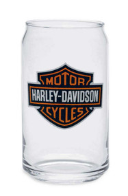Harley-Davidson® Bar & Shield Soda Can Glass 16 oz, Barware Glassware 99211-14V