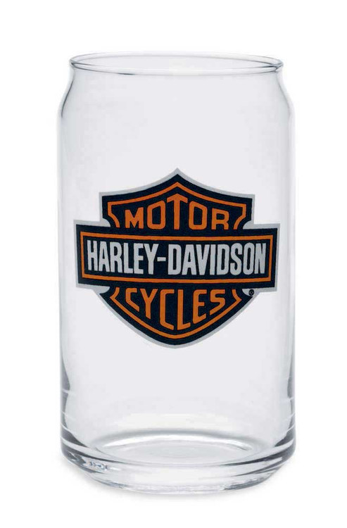 Harley-Davidson® Bar & Shield Soda Can Glass 16 oz, Barware Glassware 99211-14V