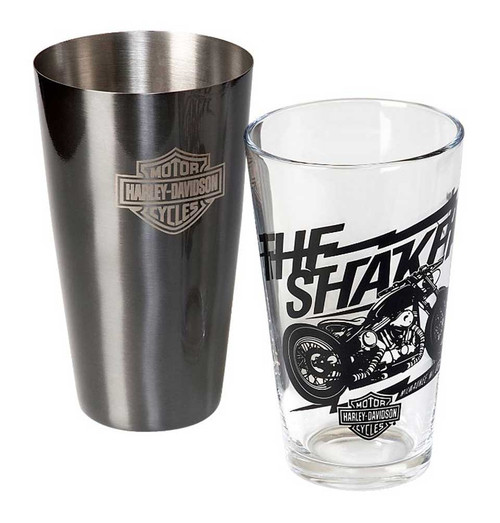 Harley-Davidson® Bar & Shield Boston Drink Shaker Set, Stainless Steel HDL-18554 - A