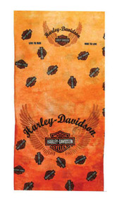 Harley-Davidson® Bar & Shield Multifunctional 10 Style Headwear Orange. MHW129838 - A