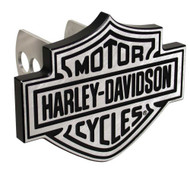 Harley-Davidson® Silver Bar & Shield Hitch Plug, 1-1/4 Inch 2-Inch Brackets P2238