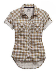 Harley-Davidson® Women's Genuine Short Sleeve Plaid Shirt. 99136-15VW - A