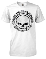 Harley-Davidson® Men's T-Shirt, Willie G Skull Short Sleeve Tee, White 30296643 - A