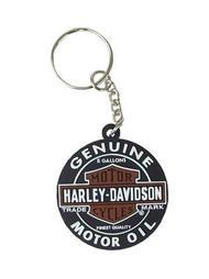Harley-Davidson® Motor Oil Black Rubber Keychain KY469