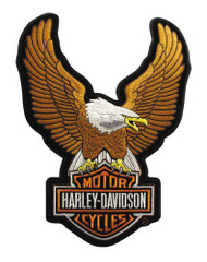 Harley-Davidson® Eagle Winged Large Brown Patch, 7-3/4/'' x 10-1/4'' EMB328394