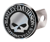 Harley-Davidson® Hitch Cover, Willie G Skull Hitch Plug, Brushed Silver 2283