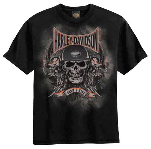 Harley-Davidson® Big Boys' Skull Embossed H-D T-Shirt Black 0294184